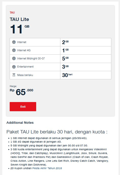 kuota entertaunment telkomsel